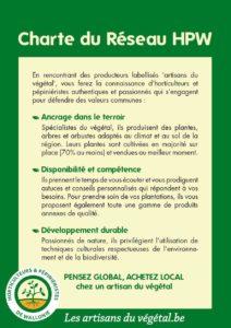Notre Charte – Les artisans du vegetal
